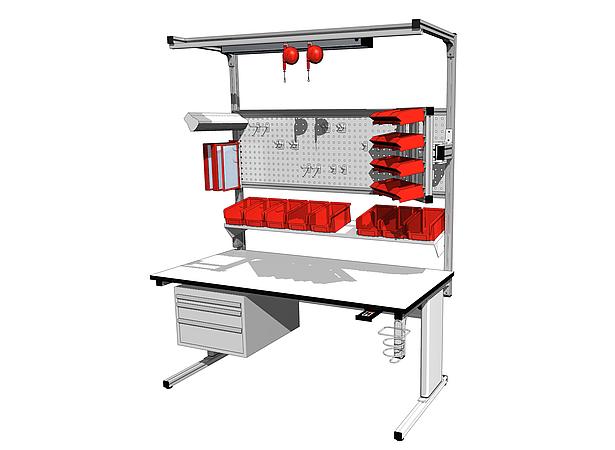 Modul Tec Arbeitstisch Montagetisch Oder Packtisch Aus Aluprofil